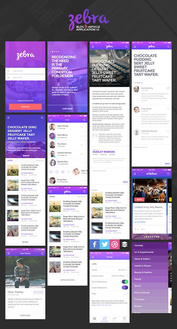 Mobile App Design Template PSD