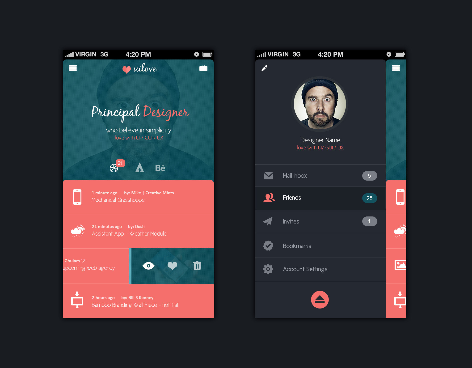 12 Mobile-App Template PSD Images