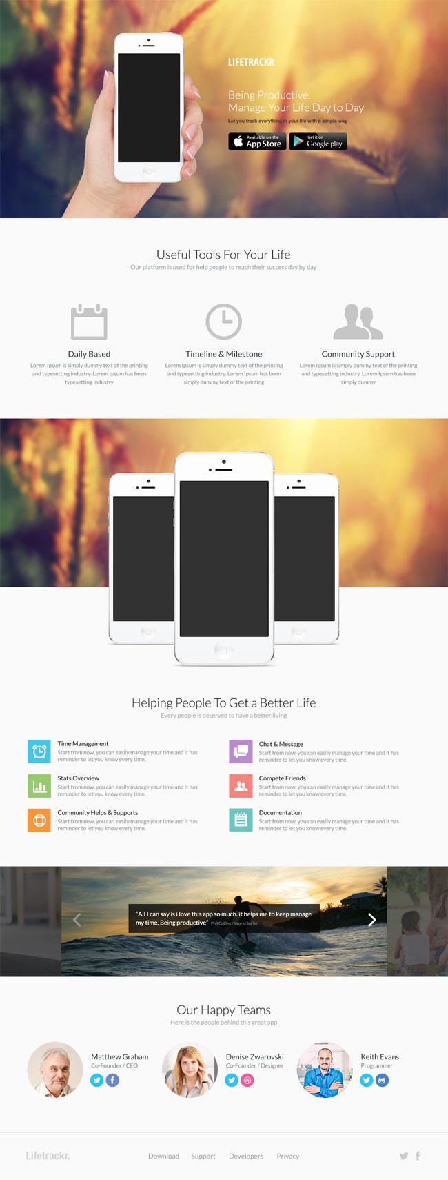 Mobile-App Landing Page