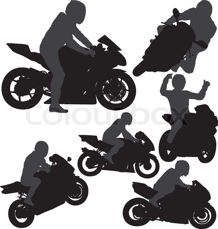 Motorcycle Rider Silhouette