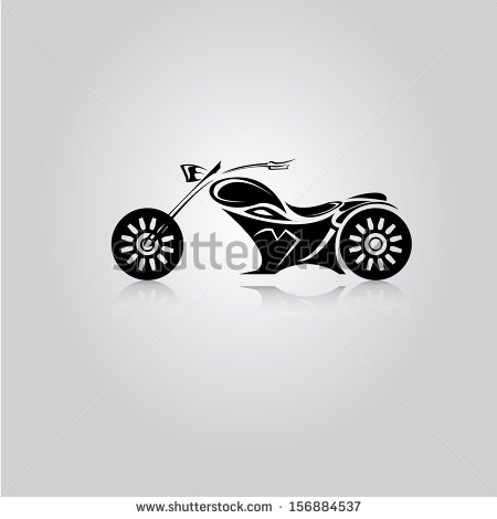 Motorcycle Silhouette Clip Art