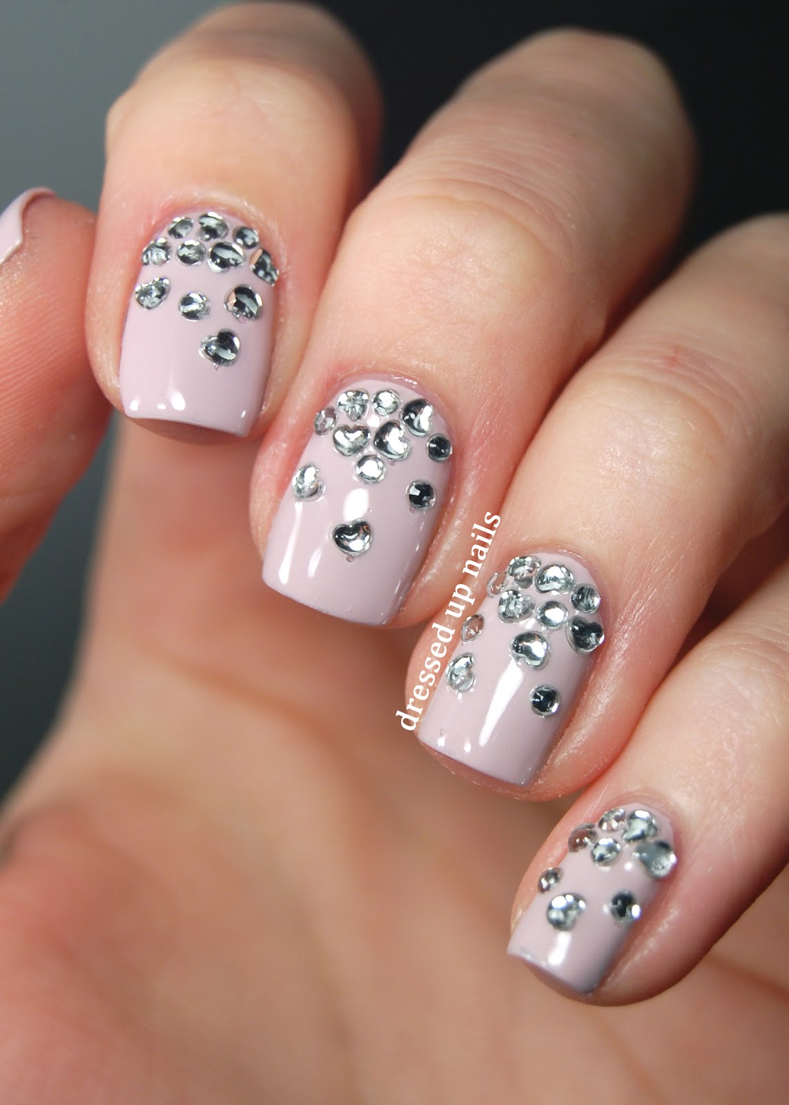 17 Easy Nail Designs With Rhinestones Images