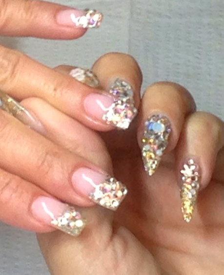 Nail Designs with Swarovski Crystals