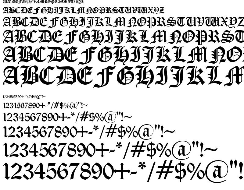 Old English Font Free Download
