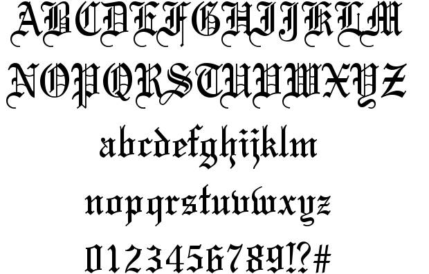 6 Old English Script Font Images