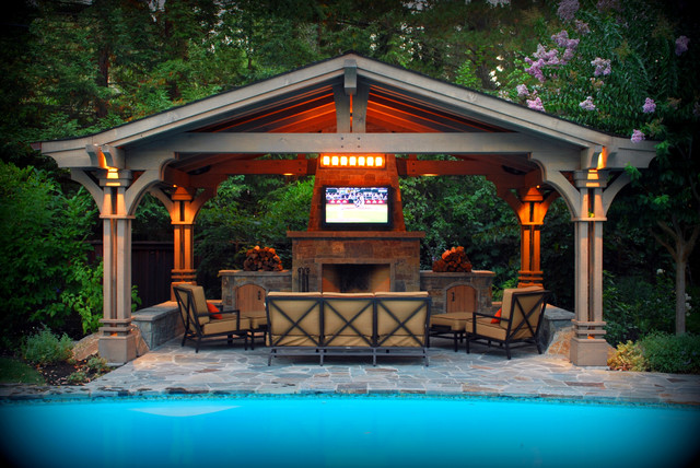 13 pool pavilion designs images backyard pool pavilion for Outdoor kitchen pavilion designs