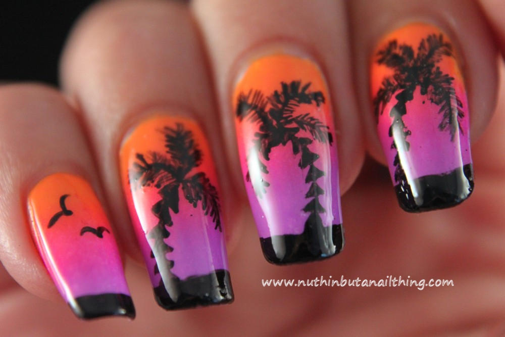 9 Palm Tree Nail Designs Images