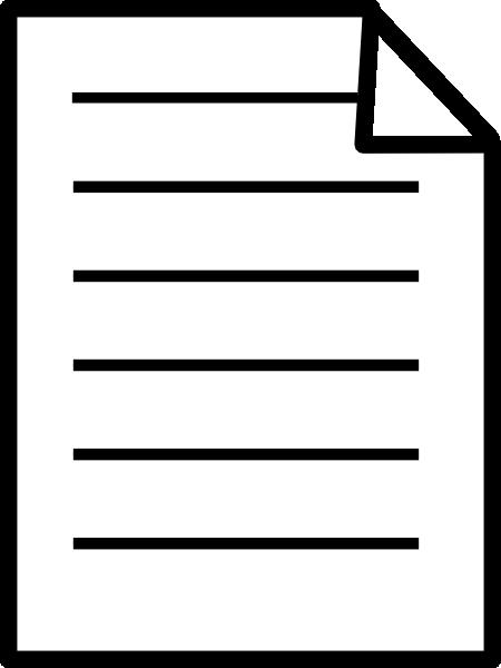 Paper Document Clip Art