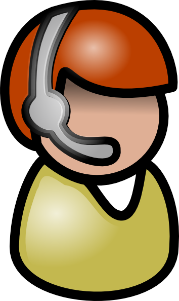 Person On Computer Clip Art