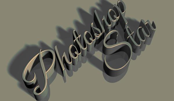 Photoshop CS6 3D Text