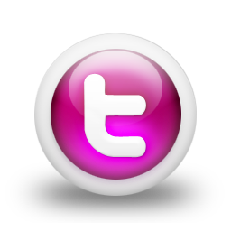 Pink Social Icons Twitter