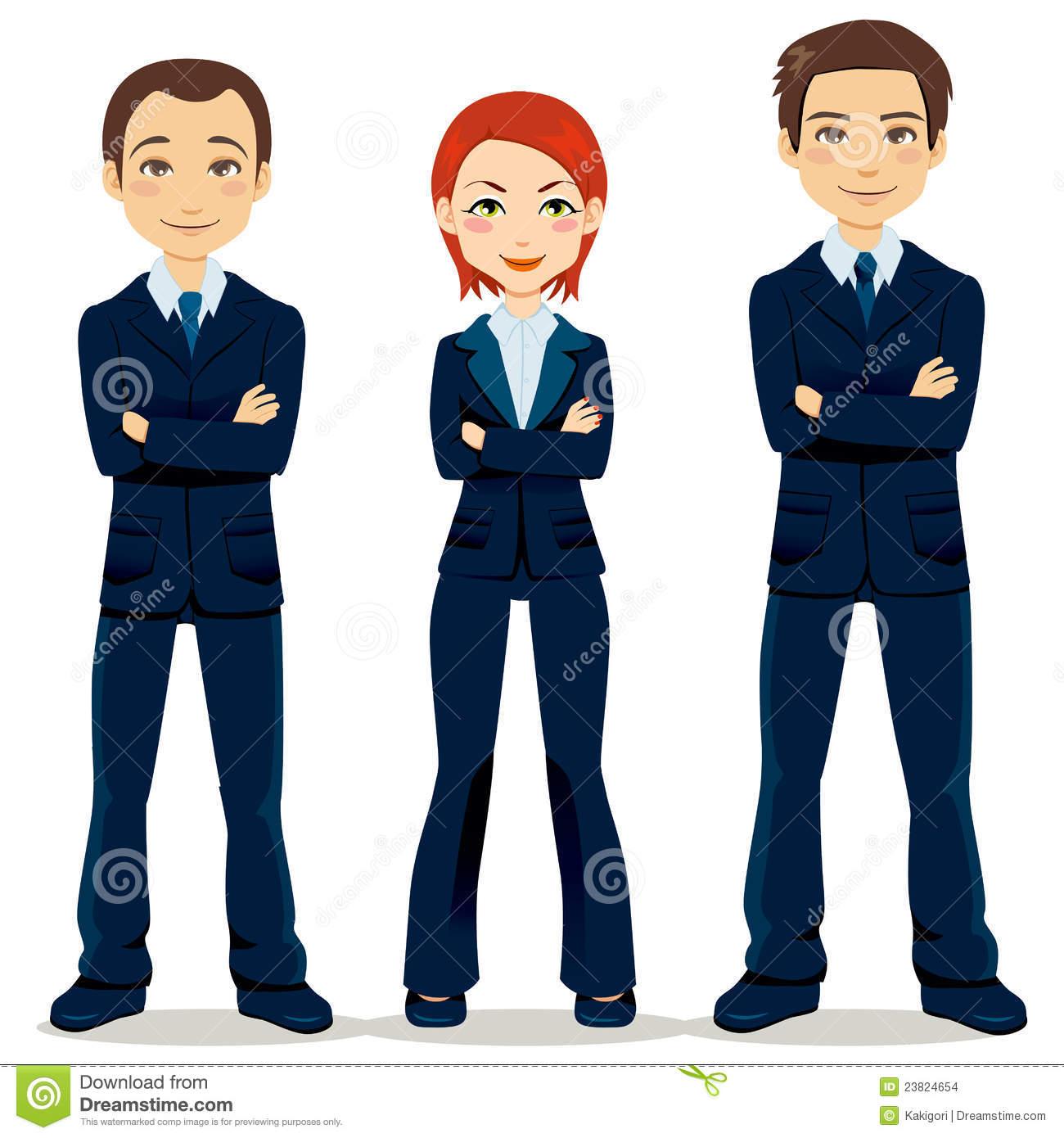 Professional Business Team Cartoon