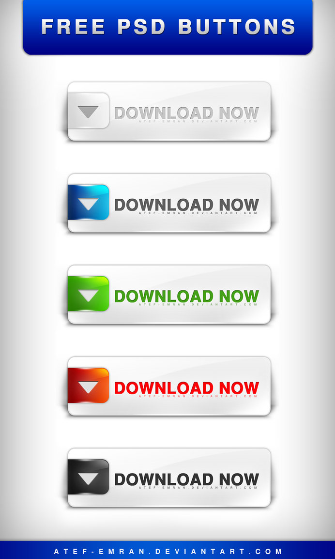 PSD Buttons Free Download