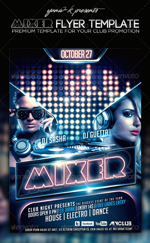 17 Free Dj Flyer Psd Template Images Dj Party Flyer Templates Free