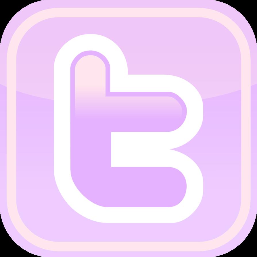 Purple Facebook Twitter Icons