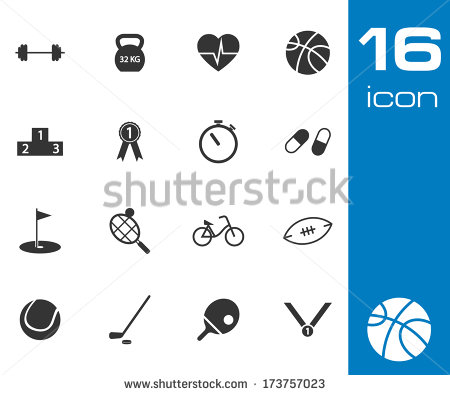 Recreation Icons Black and White