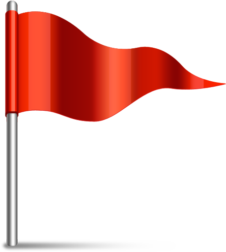 Red-Flag Icon