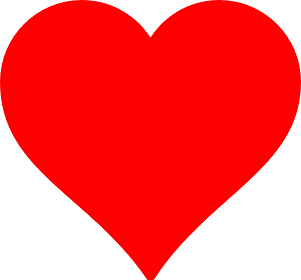 Red Heart Clip Art Vector