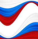 Russia Flag Logo Vector
