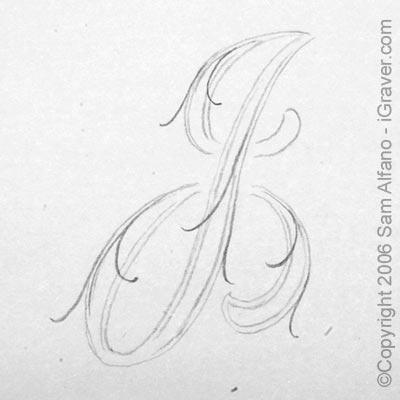 Script Alphabet Letter Drawings
