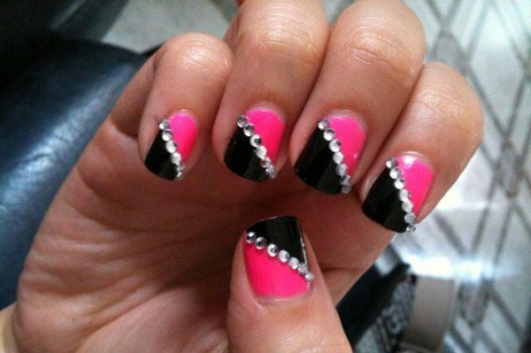 17 Easy Nail Designs With Rhinestones Images Nail Designs With