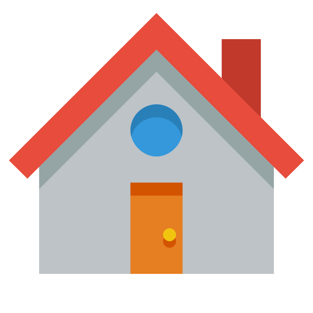 12 House Icon Flat Images