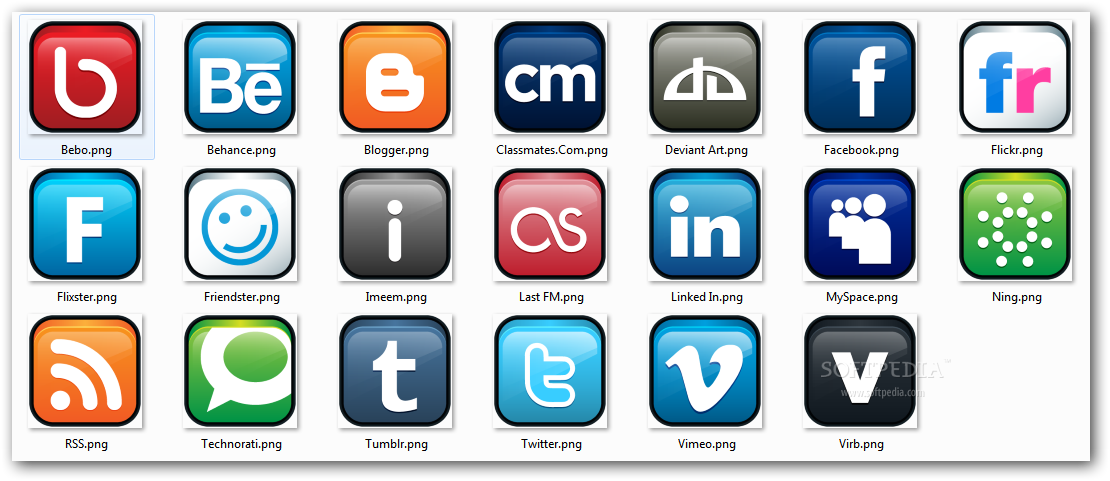 Social Networking Logos Icons