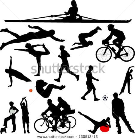Sports Silhouette Clip Art
