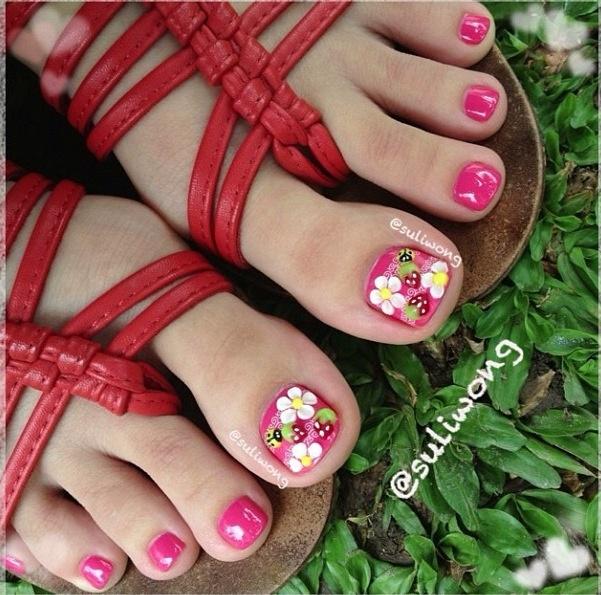Spring Toe Nail Designs 2014