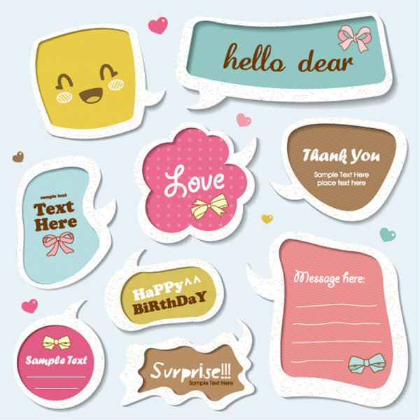 Text Speech Bubble Vector