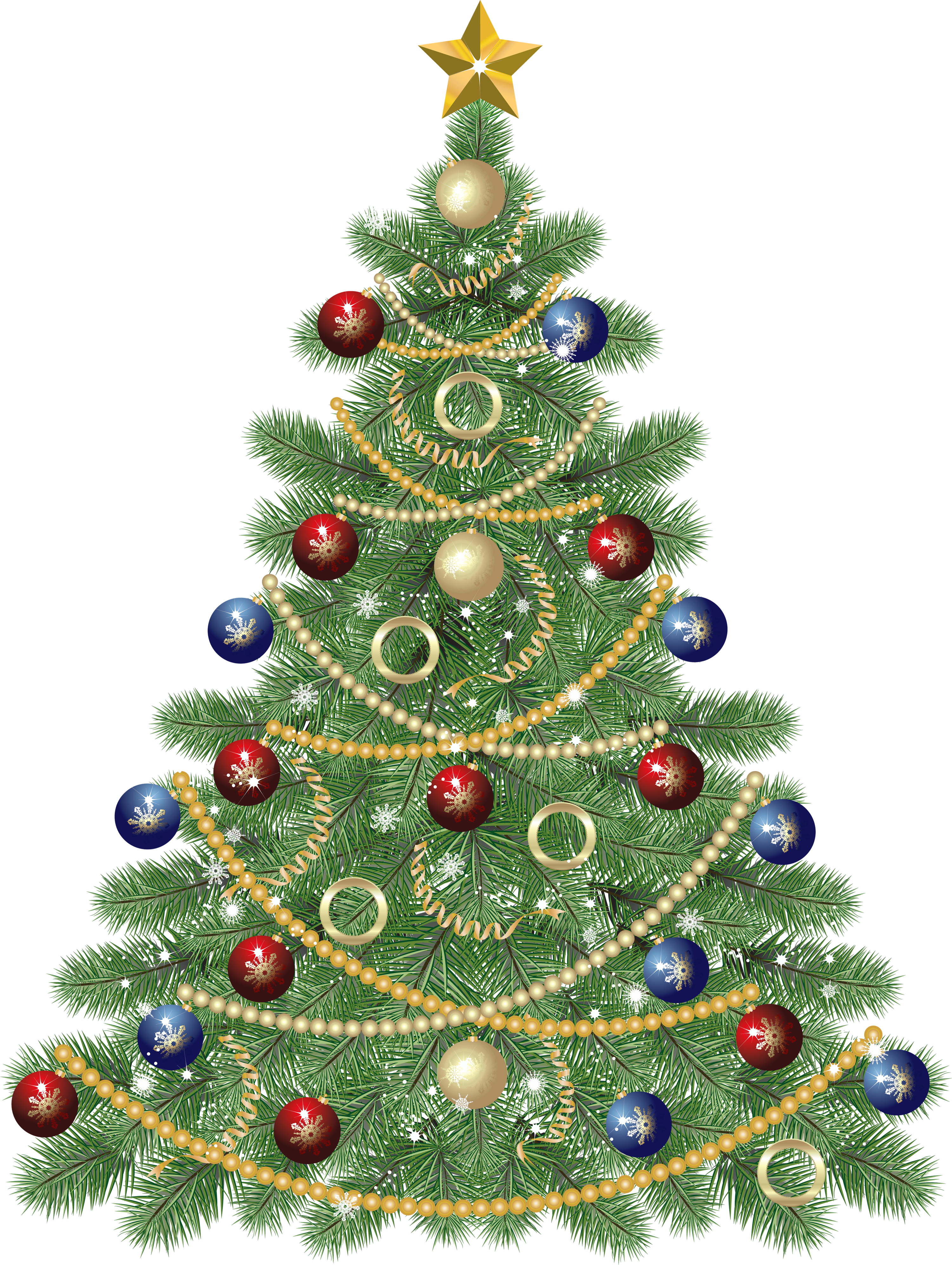 Transparent Christmas Tree Clip Art