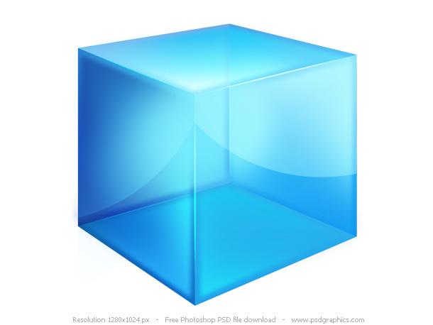 Transparent Glossy Box Logo