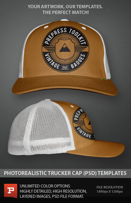 Trucker Hat Template PSD