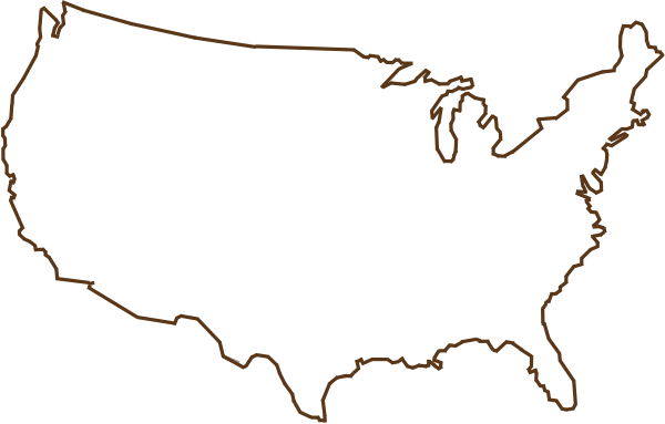 Us Map Silhouette Vector Images USA Outline Map United States - Us map silhouette