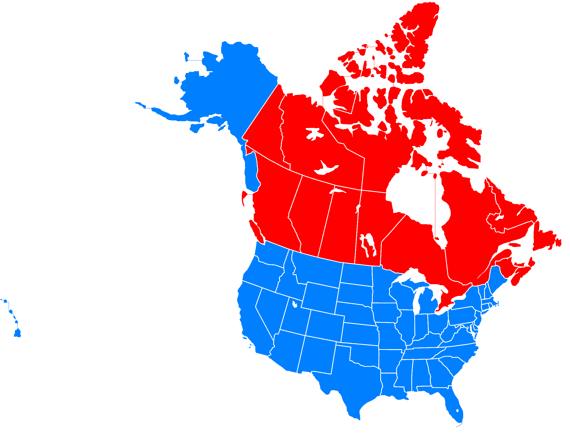 Canada USA Map Icon Images USA And Canada Map USA Canada - Map usa and canada