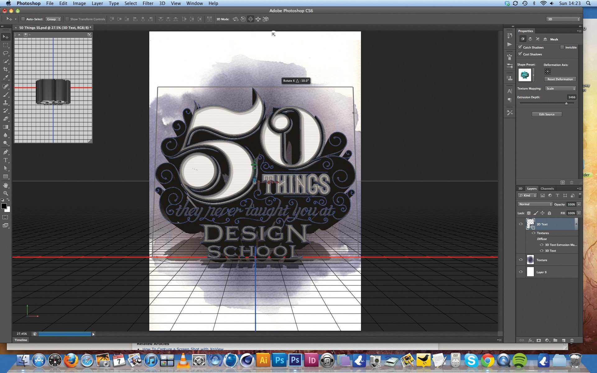 16 3D Type In Photoshop CS6 Images