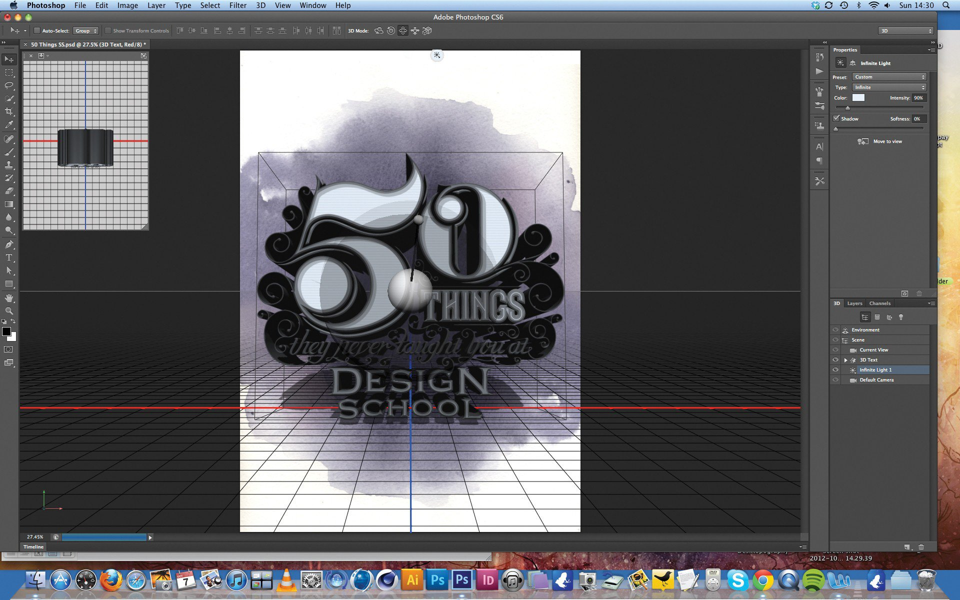 Using 3D in Photoshop CS6