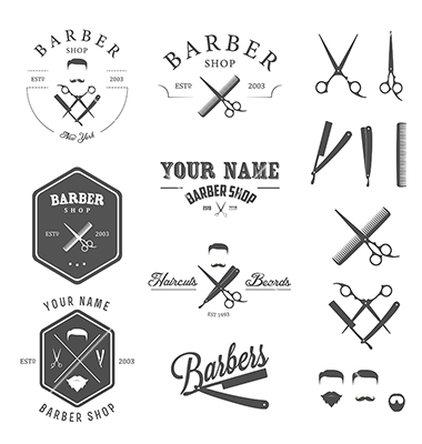12 Free Vector Retro Barber Images