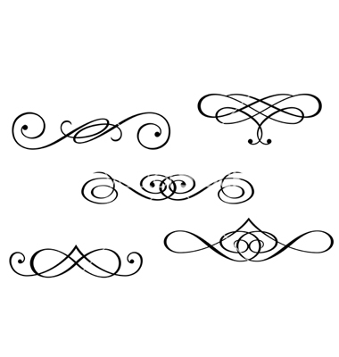 Vector Swirl Monograms for Free