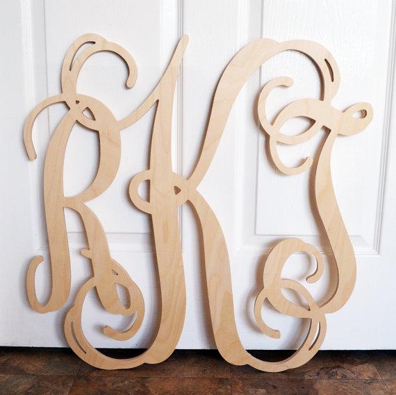 17 Vine Font Wooden Letters Images