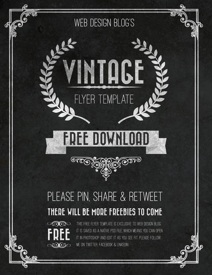 Vintage Flyer Template Free