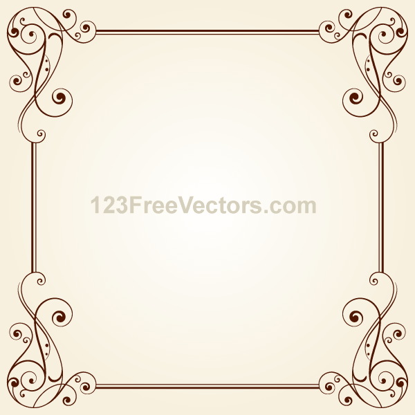 16 Free Vintage Vector Borders And Frames Images