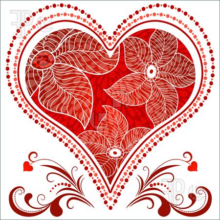 Vintage Heart Clip Art