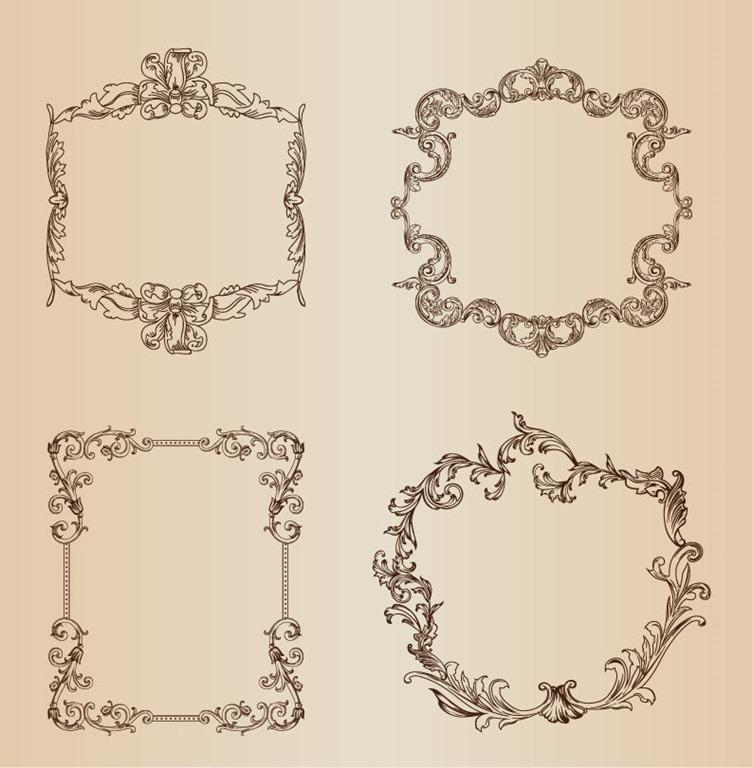 Vintage Vector Decorative Frames