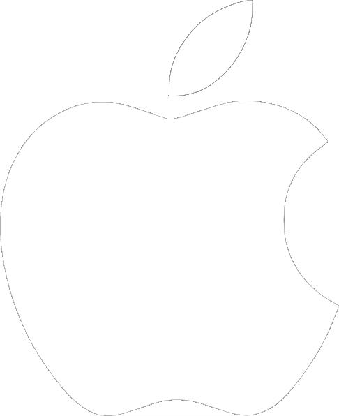 White Apple Logo Vector