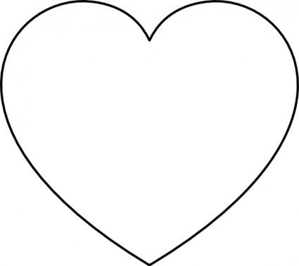White Heart Clip Art Free