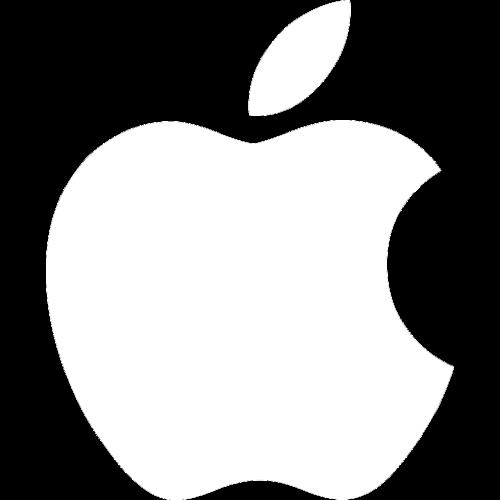 White Transparent Apple Logo