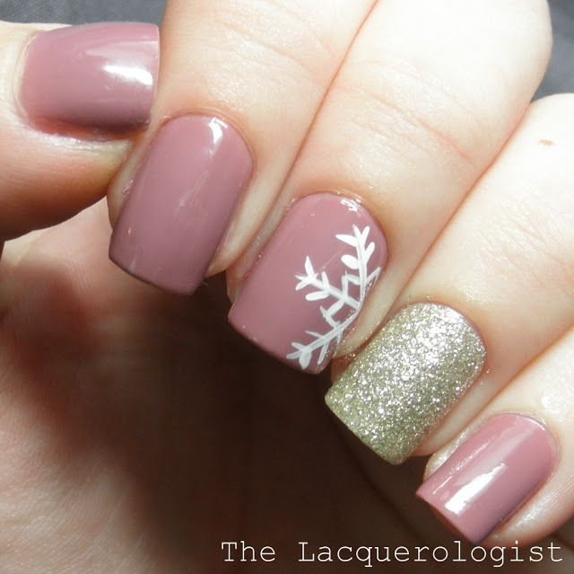 15 Cute Winter Nail Designs Images , Winter French Tip Nail