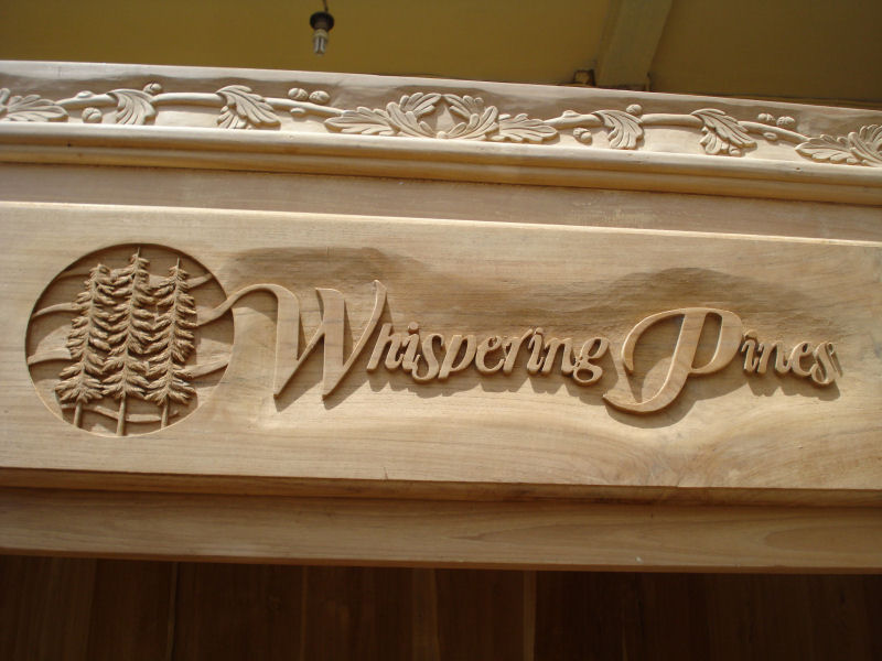Wood carving font for signs images custom carved