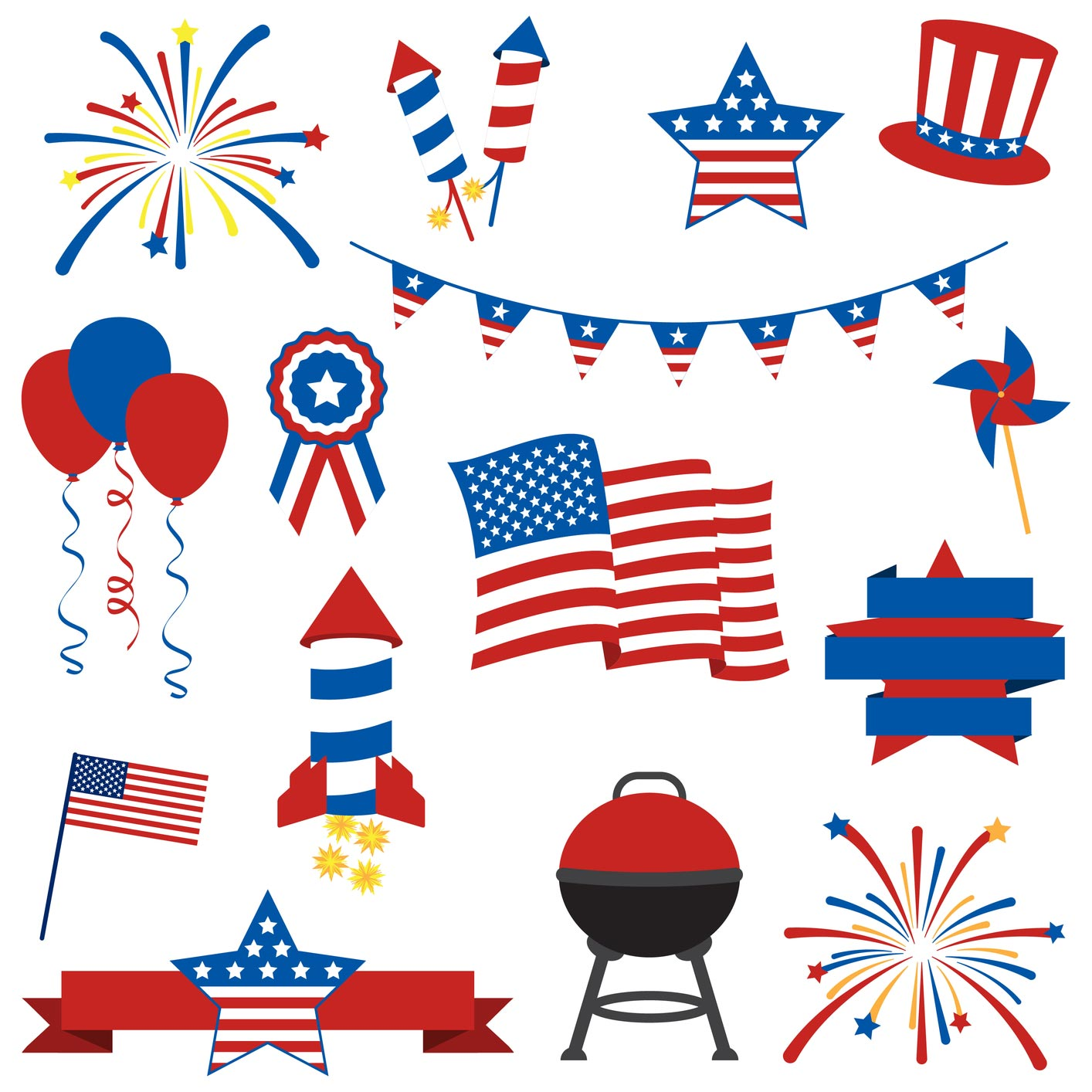 18 4th Of July Vector Images